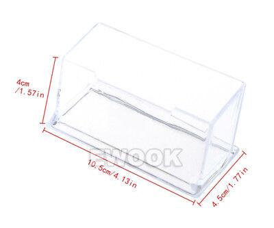 10X Clear Desktop Business Card Holder Display Stand Plastic Desk Shelf LOT PP 5
