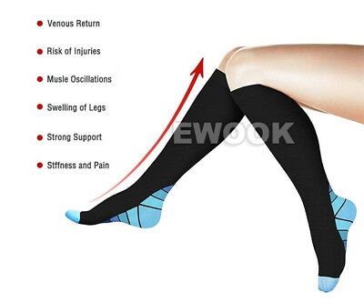 15-30mmHg Medical Compression Socks Support Stockings Travel Flight Socks AU 6