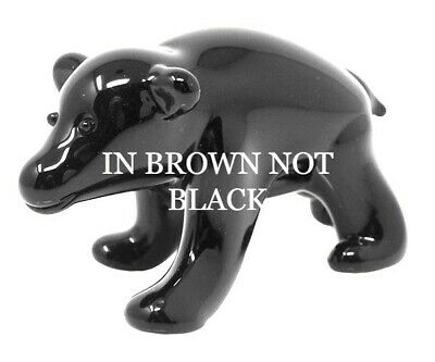 Collectible Blown Glass Creatures And Animals - Brown Bear - Ma100 12