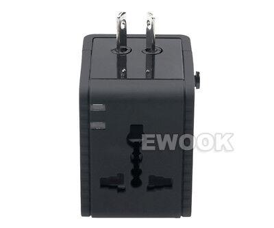 Universal Travel Adapter Dual 2 USB Plug Charger AC Power UK US EU AU 6