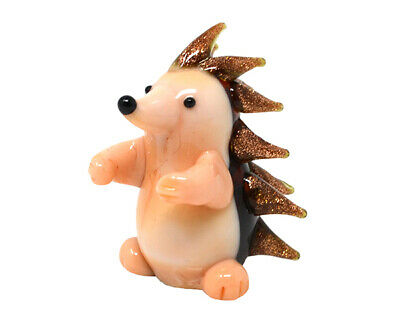 COLLECTIBLE BLOWN GLASS CREATURES AND ANIMALS - Hedge Hog- MA102 3