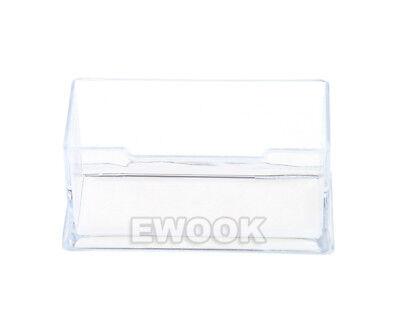 10X Clear Desktop Business Card Holder Display Stand Plastic Desk Shelf LOT PP 3