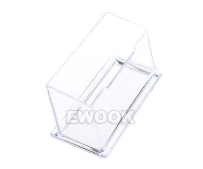 10X Clear Desktop Business Card Holder Display Stand Plastic Desk Shelf LOT PP 4