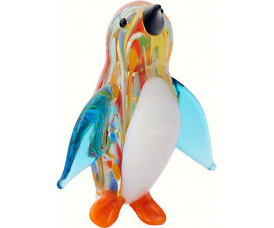 Collectible Blown Glass Creatures And Animals - Venetian Penquin - Ma-081