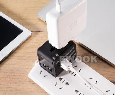 Universal Travel Adapter Dual 2 USB Plug Charger AC Power UK US EU AU 11