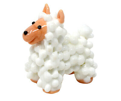COLLECTIBLE BLOWN GLASS CREATURES AND ANIMALS - Alpaca LAMB - MA107 2