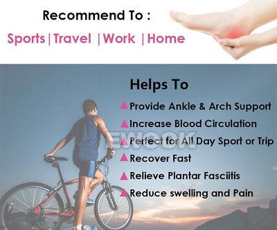 Foot Angel Compression socks Foot Sleeve Plantar Arthritis Sore Achy Heel Pain 10
