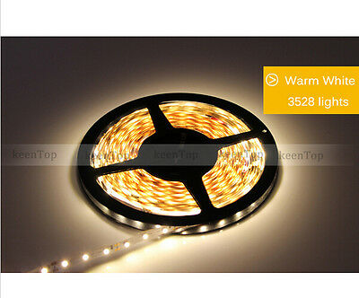 5M Flexible RGB Led Strip 3528 SMD 300 Leds String Light White lamp DC 12V 5