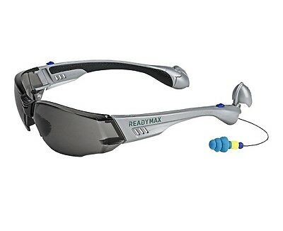 readymax construction outdoor safety glasses with earplugs eye ear