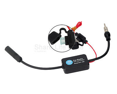 Auto Car Antenna Radio Signal AMP Amplifier Booster Strengthen ANT-208 25db 12V 4