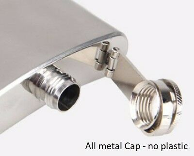 6oz 8oz 10oz Stainless Steel Hip Flask, Drinking Flask - Quality all Metal Cap 3