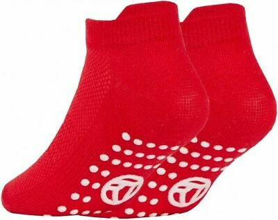 3 Pairs of Kids Boys Girls Grip Gripper Trainer Socks Sports Liners Non Skid 4