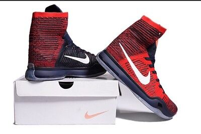 low priced 27e3c 0aca5 ... Nike Kobe X 10 Elite American USA Olympic Red White Navy Blue 8  Independence Day 6