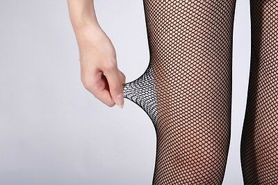 Lady Women's Mesh Net Fishnet Stockings Jacquard Pantyhose Waist High Tights New 5