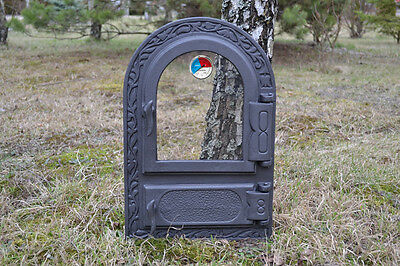 33x49,5 New Cast iron fire door clay / bread oven / pizza stove fireplace DZ004 12