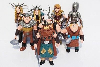 How to Train Your Dragon 8x Figures Characters Set: Hiccup Astrid Stoick Ruffnut 2