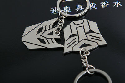 Metal Transformers Autobot & Decepticon Symbol Keychain [ONE PAIR] cosplay 9