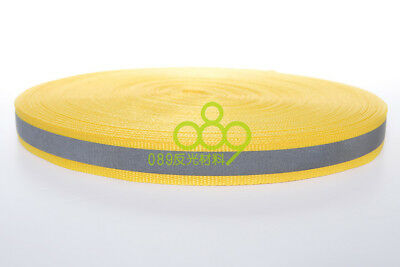 "Reflective Fabric Tape Strip Edging Braid Trim Sew On 0.4""x164 ft Yellow # GY 3"