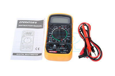 Electrical LCD Digital Multimeter Ohmmeter Multi OHM Tester AC DC Voltmeter