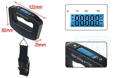 Portable Electronic Digital Luggage Scale Travel 50KG Handheld Suitcase 10G 10