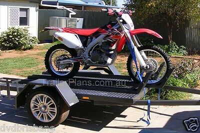 Trailer Plans - MOTORBIKE TRAILER PLANS - 3 Bike Design 7x5ft - PLANS ON CD-ROM 11
