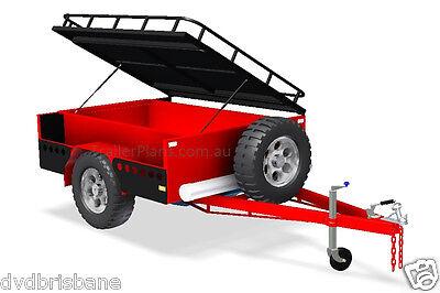 Trailer Plans - OFF ROAD CAMPER,TANDEM BOX & CAGE TRAILER PLANS -Plans on CD-ROM 2