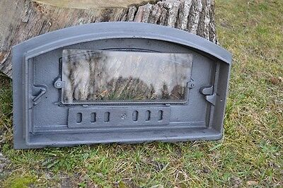 48 x 27cm Cast iron fire door clay / bread oven / pizza stove smoke house DZL08