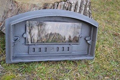 48 x 27cm Cast iron fire door clay / bread oven / pizza stove smoke house DZL08 7