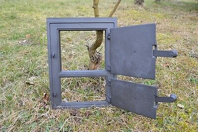29x39 Cast iron fire door clay /bread oven pizza stove smoke house furnace DZ003 3