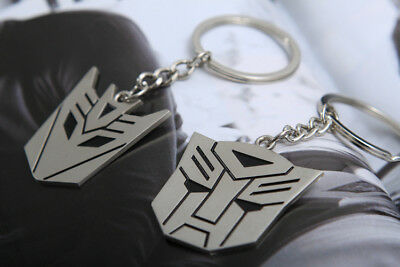 Metal Transformers Autobot & Decepticon Symbol Keychain [ONE PAIR] cosplay 8