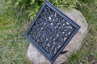 23 x 23cm Cast iron AIR RETURN GRILLES Traditional Vintage Victorian Cover DZ053