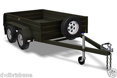 Trailer Plans - TANDEM BOX TRAILER PLANS - 8x5, 9x5, & 10x6ft - PLANS ON CD-ROM 2