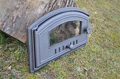 Bread Oven 48 X 27cm Cast Iron Fire Door Clay Pizza Stove Smoke House Dzp16