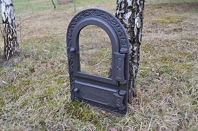 33x49,5 New Cast iron fire door clay / bread oven / pizza stove fireplace DZ004 4