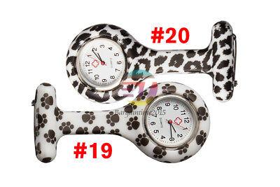Silicone Nurse Watch Brooch Tunic Fob Nursing Nurses Pendant Clip Pocket Quartz 9