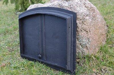 55,5x41cm Cast iron fire door clay / bread oven / pizza stove smoke house DZ017 6