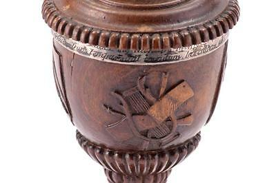 FINELY CARVED SHAKESPEARE MOMENTO MORI CHALICE. Lot 88 5