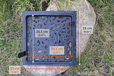 23 x 23cm Cast iron AIR RETURN GRILLES Traditional Vintage Victorian Cover DZ053 6