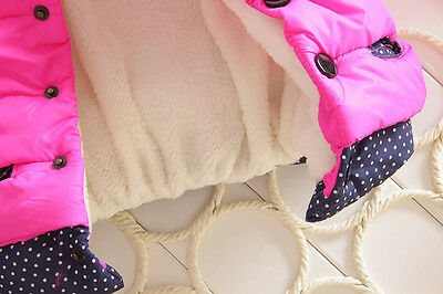 Baby Kids Girl Cartoon Mickey Hooded Winter Warming Coat Jacket Jumper Outerwear