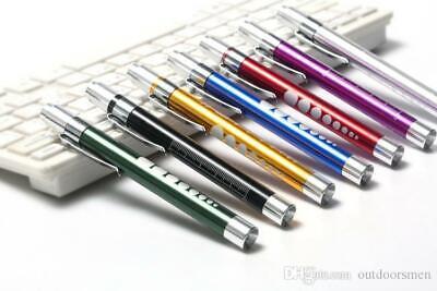 Medical Pen LED Light Pocket Torch Reusable Emergency Doctor Nurse Surgical 10