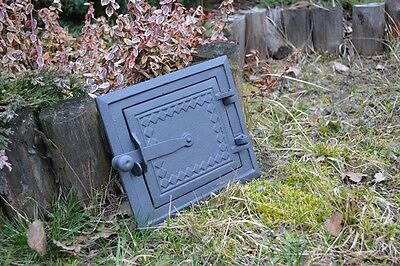 25,5x21,5 Cast iron fire door clay / stove bread oven / Chimney Clean Out /DZ057 3