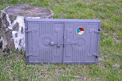 Gusseisen 42 x 63 cm Kamintür Kaminrahmen Ofentür Backofentür Holzofentür