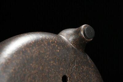 Bronze Round Chinese Yixing Zisha Shohin Bonsai Pot 15x15x4cm
