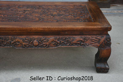 """26.2"""" Antique Old Chinese Huanghuali Wood Dynasty Dragon Tea Table Teapoy Desk 4"""