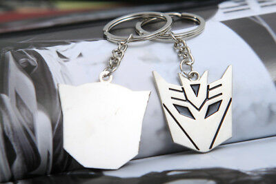 Metal Transformers Autobot & Decepticon Symbol Keychain [ONE PAIR] cosplay 7