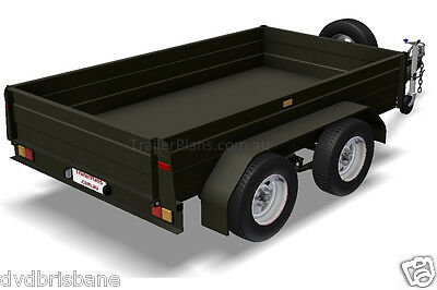 Trailer Plans - TANDEM AXLE BOX TRAILER PLANS - 3 sizes included - PLANS ON USB 3