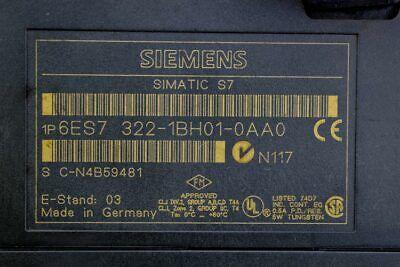 Siemens 6ES7 322-1BH01-0AA0 Simatic S7 Digital Output Module 3