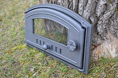 48 x 27cm Cast iron fire door clay / bread oven / pizza stove smoke house DZL08 2