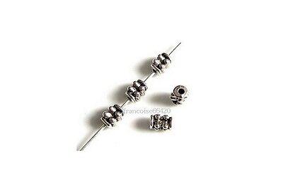 60 Intercalaires spacer /_ CYLINDRE FLEUR 6,5x5mm /_ Perles apprêts bijoux /_ A135