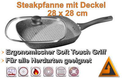 Bratpfanne 28 cm weiß Schulte Ufer Grit Induktion Aluminiumguss Aluguss 24cm